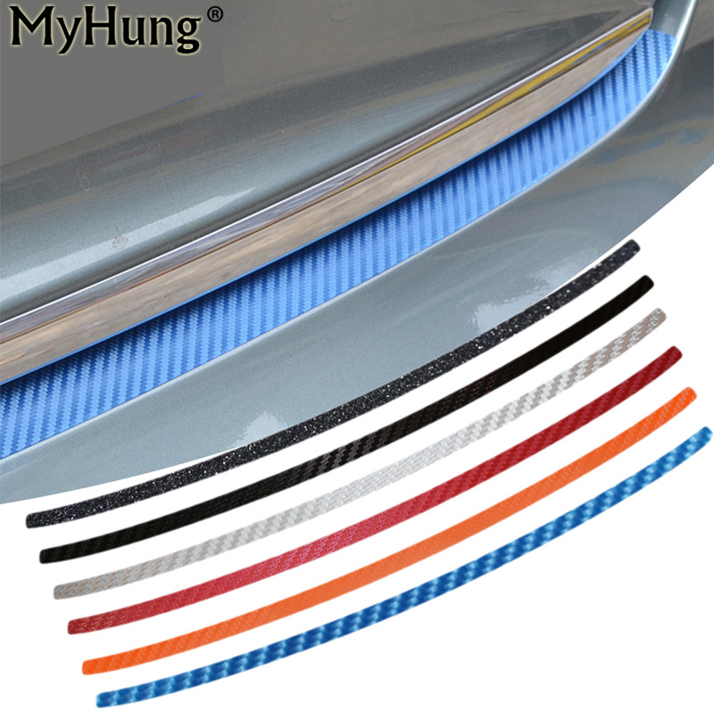 Car Trunk Boot Protecting Bumper Plate Molding Lid Outside For Audi A4L 2013 To 2015 Carbon Fiber Car Stickers 1pc Car Styling 1sheet matte surface 3k 100% carbon fiber plate sheet 2mm thickness