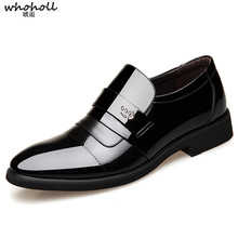 WHOHOLL Italian Formal Shoes Men Leather Dress Brand Mens Business  Oxford for Zapatos Elegantes
