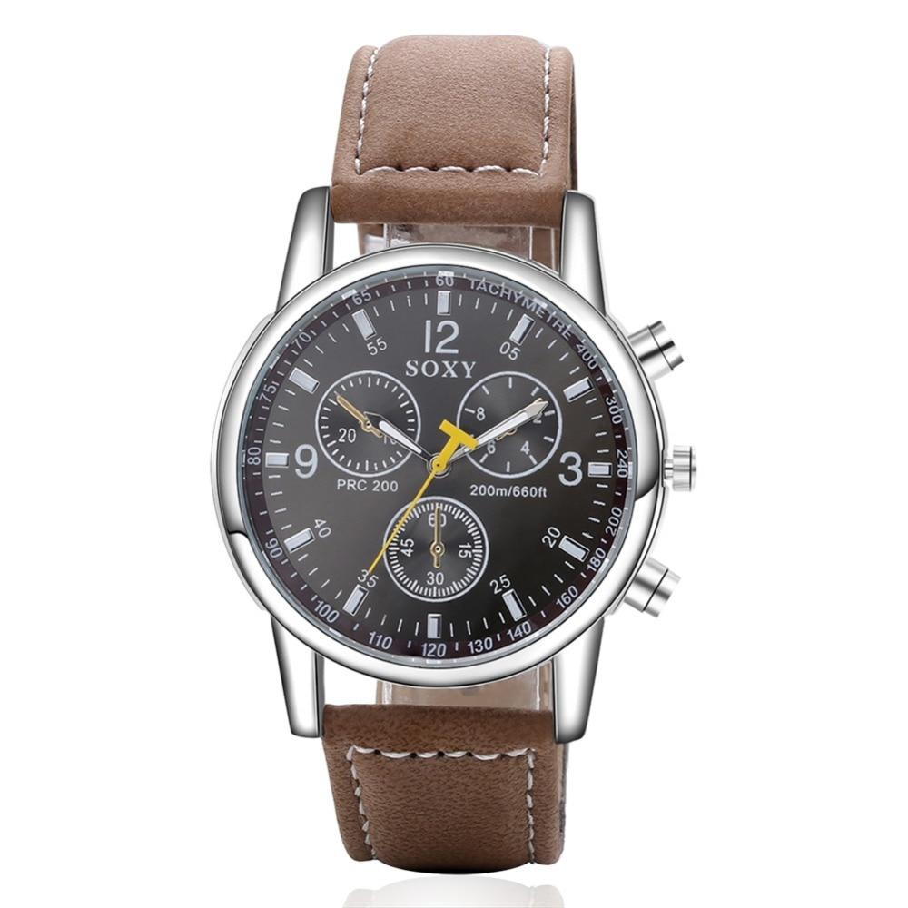 цены 2017 New Hot Sell Luxury Brand SOXY Mens Watches Fashion Leather Straps Quartz Watch Popular Designer Men Watch Male Clock
