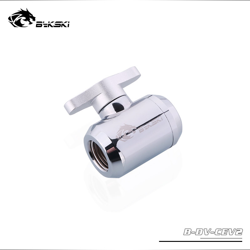 BYKSKI Water Valve Switch Double Inner G1/4 Thread Double Female Plastic Handle Water Cooler System Computer Accessories FittingBYKSKI Water Valve Switch Double Inner G1/4 Thread Double Female Plastic Handle Water Cooler System Computer Accessories Fitting
