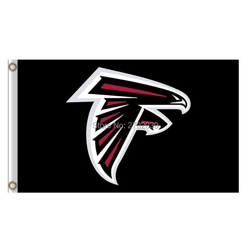 Atlanta Falcons Flag Black World Series Football Team 3ft X 5ft