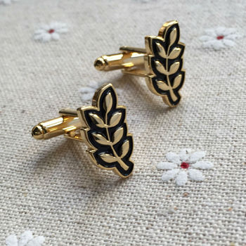 10pairs leaf luxury cufflink for sale Sprig of Acacia Hiram Abiff masonic designer masons mens cuff links sleeve button