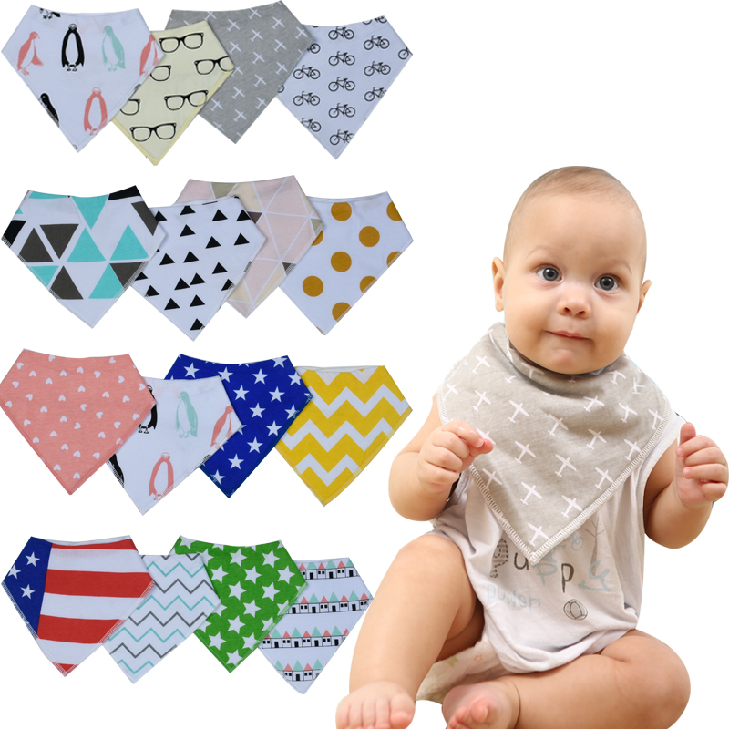 12pcs lot Designed for font b baby b font Boys Girls Burp Cloths Saliva Towel Drool