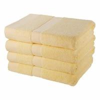 Однотонные банные полотенца 100% хлопок 140x70 см 4 шт. набор мягкие быстросохнущие для взрослых абсорбирующие Банные пляжные взрослые базовые п
