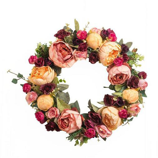 2017 Christmas Wreath Flowers Garland Mothers Day Holiday Wedding Decoration Home Graden Festival R111