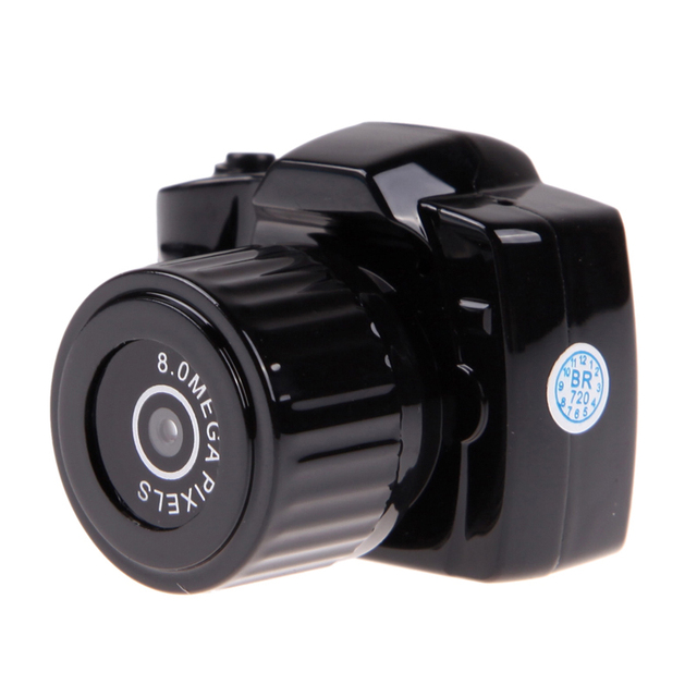 Black 720P HD High Definition Mini DV Recorder Camcorder Camera Support MicroSD/TF Card Without Displayer