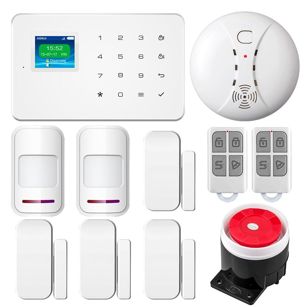 G18 Casa Inteligente Sem Fio GSM Sistema de Alarme de Segurança Com Teclado TFT APP Controle Kit DIY PIR Sensor Detector De Movimento do Assaltante alarme