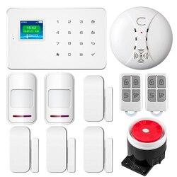 G18 Smart Home, Casa Intelligente Senza Fili di Sicurezza di GSM Sistema di Allarme Con Tastiera TFT APP di Controllo Kit FAI DA TE PIR Rivelatore di Movimento del Sensore di Allarme Antifurto