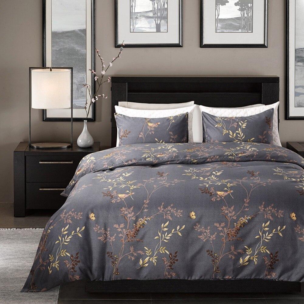 Новый пододеяльник, Комплект постельного белья без простыни, 100% Египетский принт, роскошный с эластичным поясом, Комплект постельного белья s Queen size|Комплекты постельного белья| | АлиЭкспресс
