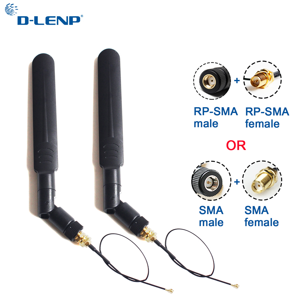 5dbi Aerial Wifi Antenna 2.4Ghz//5.8GHZ Omni Dual-band RP SMA male 1.13 PCI U.FL