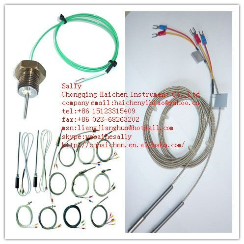 Winding Sheathed Type K Thermocouple with Compensation Cable