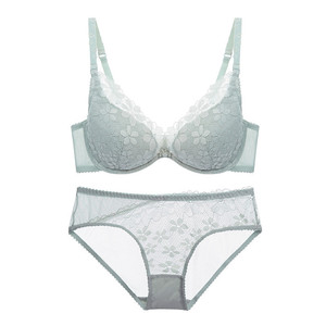 Image 5 - Varsbaby comfortable thin cotton cup lace elegant women s bra set sexy underwear