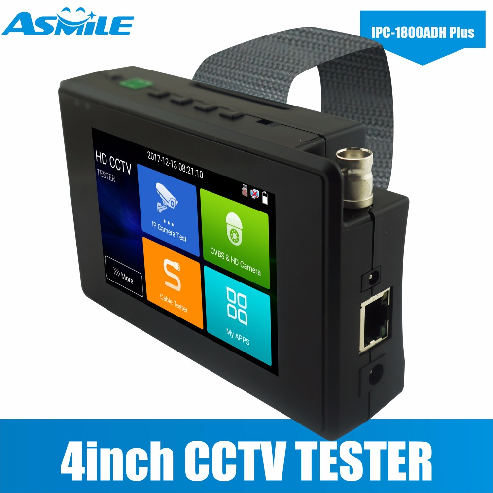 Portable IPC-1800ADH Plus IP CVBS CVI TVI AHD All In One Professional IP Camera Tester Monitor H.265/H.264, 4K Video Display