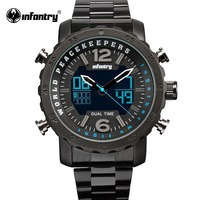 INFANTRY Military Watch Men LED Digital Quartz Mens Watches Top Brand Luxury Dual Time Watches for Men Police Relogio Masculino