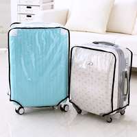 Free Shipping Fashion Waterproof Dustproof Rain Cover Clear Luggage Cover Travel Luggage Suitcase Cover 4 Size
