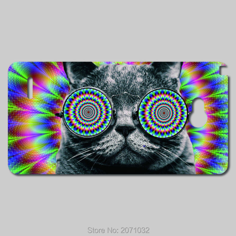 Download Adorable Cat With Glasses Wearing Funky On Face Wallpaper ...