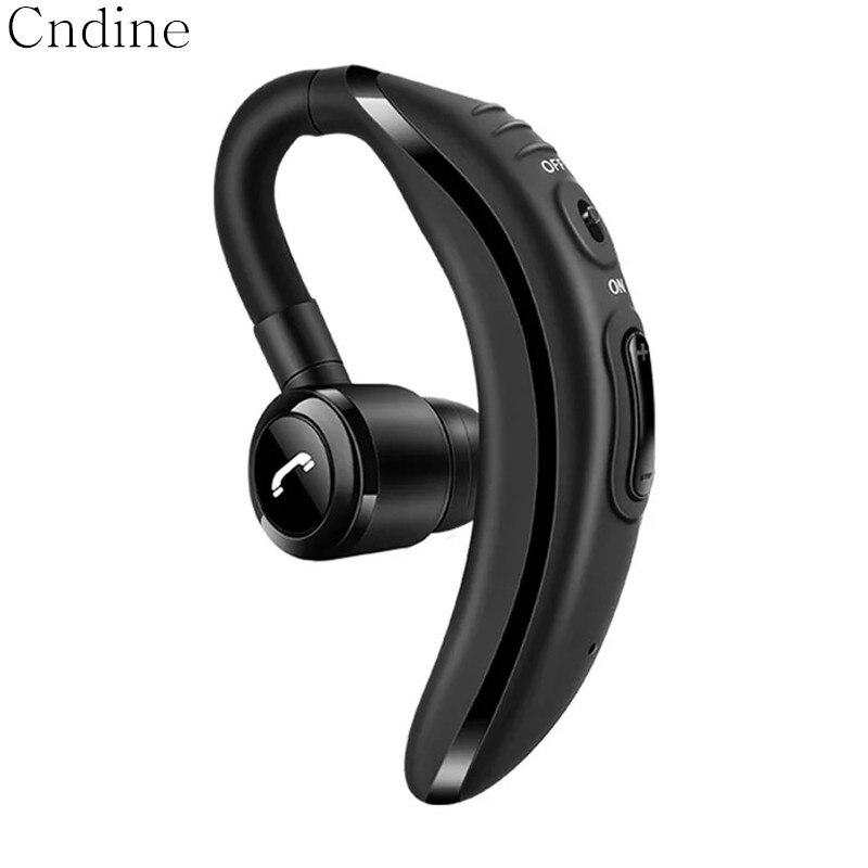 Écouteur Bluetooth noir Mini casque d'affaires sans fil pour voiture avec Microphone mains libres Bluetooth écouteurs Sport