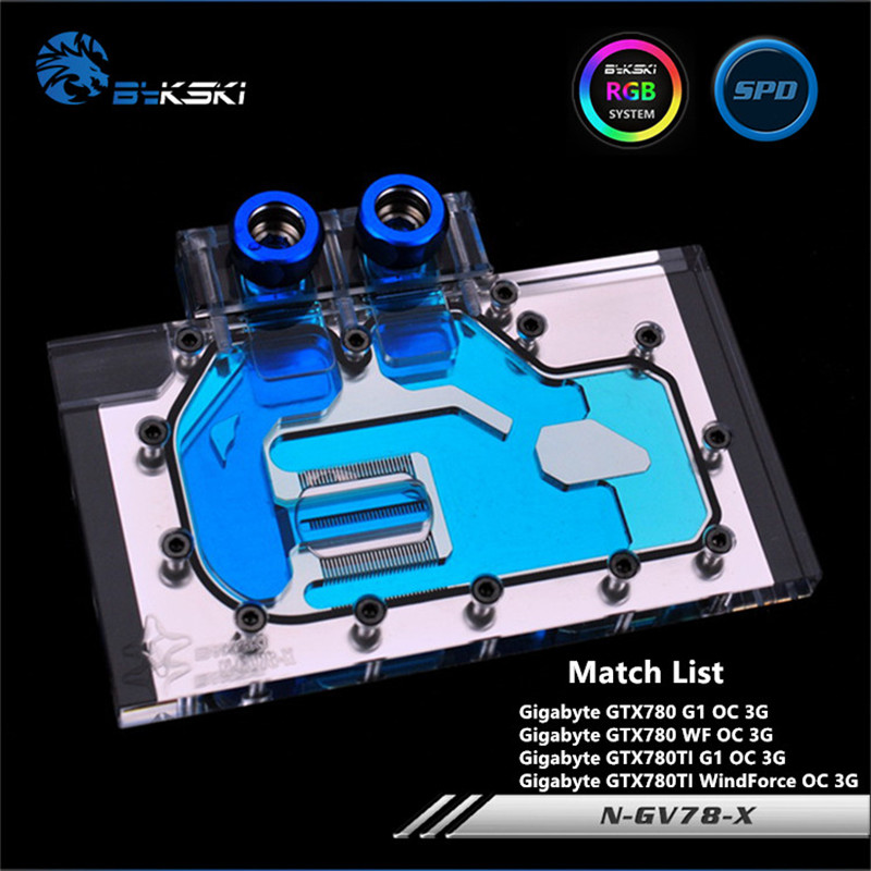 Bykski Full Coverage GPU Water Block For Gigabyte GTX780 GTX780TI G1 WindForce OC3G Graphics Card N-GV78-XBykski Full Coverage GPU Water Block For Gigabyte GTX780 GTX780TI G1 WindForce OC3G Graphics Card N-GV78-X