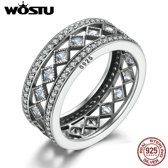 High Quality Real 925 Sterling Silver Vintage Fascination Ring For Women Compatible With Original WST Ring  S925 Jewelry