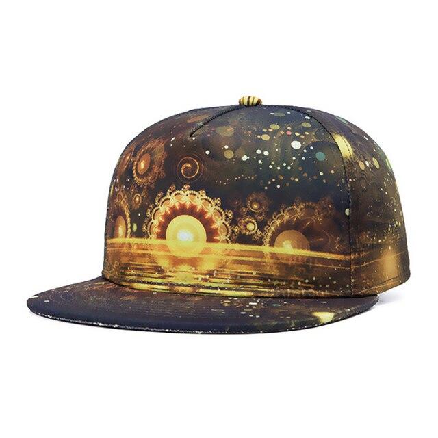 Reggae hip hop 3D oil printing bone masculino baseball caps Flat brimmed hats for women WK022