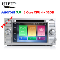 IPS Car Multimedia Player GPS Android 9 2 Din For Ford/Mondeo/Focus/Transit/C MAX Auto Radio Bluetooth DVR Autoradio DSP DVD DVR