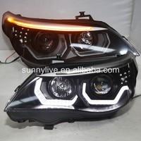 2008 2010 год E60 523i 525i 530i светодиодный головного света для BMW e60 оригинальный с HID KIT