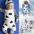 2016 de Los Bebés Ropa 0-18 M Recién Nacido Mameluco Infantil de Manga Larga Niños Bebes Uno Junta las Piezas de Ropa Traje