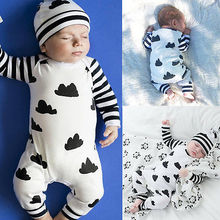 2016 Baby Boys Clothes 0-18M Newborn Infant Romper Long Slee