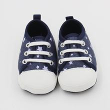 Newborn Baby Boy Girl Toddler Shoes First Walker High Quality Canvas Star Printing Lace-Up Autumn Spring Shoes For Kids Baby(China)