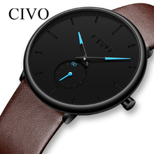 CIVO Fashion Casual Quartz Mens Watches Top Brand Luxury Sports Waterproof Male