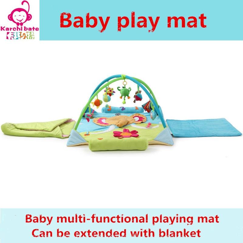 все цены на Elephant bear flower Music Soft baby Play mat Blanket Pad twin Fitness Frame Educational Baby Toys Climb Crawling Baby Gym онлайн