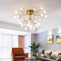 Nowoczesne LED żyrandol podsufitowy oświetlenie salonu sypialni żyrandole kreatywnych oprawy oświetleniowe do domu AC110V/220 V|Żyrandole|Lampy i oświetlenie -