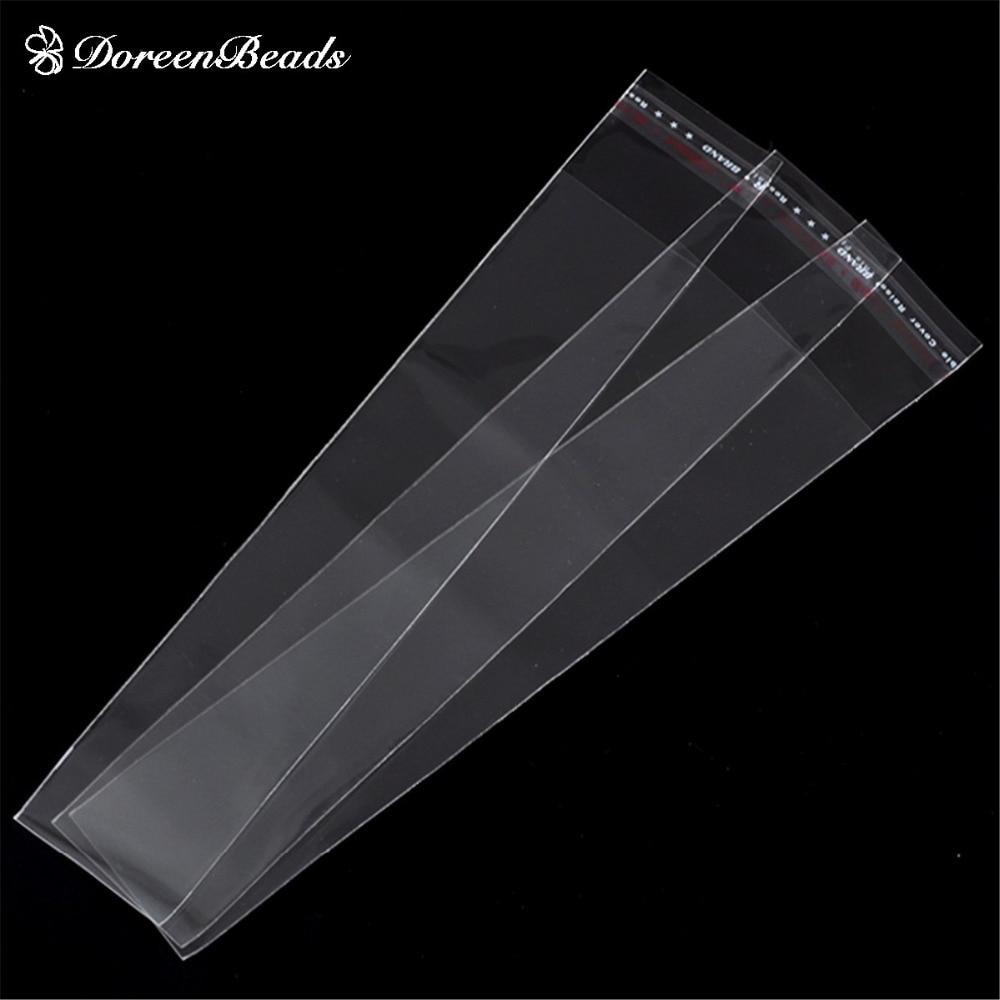 DoreenBeads Plastic Bags Clear Self Adhesive 20x3.5cm(Usable Space 17x3.5cm),200PCs (B22153)