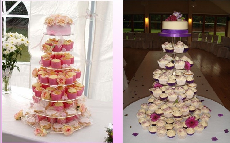 Dhl7 Tier Crystal Cupcake Acrylic Stand Wedding Round