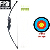 PG1ARCHERY Takedown Bow and Arrow Set Archery Game Practice Target Hunting Bow Kit with Arrow for Adults Youth Junior