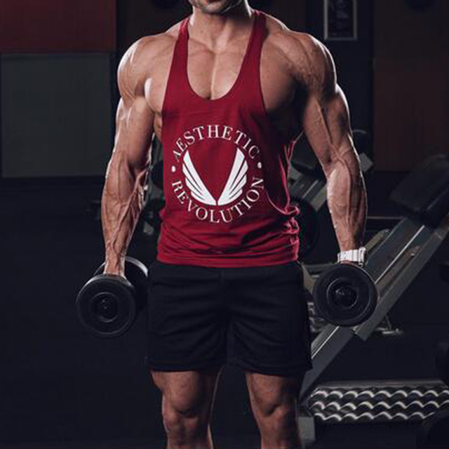 Hot Sell Men Boys Casual Revolution Printing Tank Top Vest Bodybuilding Stringers Vests Male Singlets Summer Modern Trend