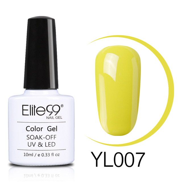 Elite99 Gelb Farbe Serie 10 ml Nagel Gel Polish UV Gel LED Lampe Maniküre Basis Top Coat Soak Off Semi -dauerhafte Nail art Gel