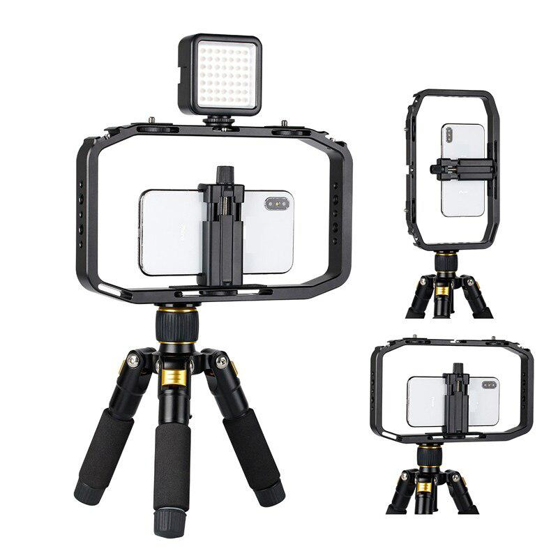 BEESCLOVER Shooting Phone Cage For Canon Nikon IPhone Xs Max X 8 7 Gopro 5 6 7 Handheld Video Rig For DSLR Camera Phone R25