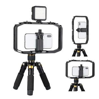 BEESCLOVER strzelanie klatka telefoniczna do Canon Nikon iPhone Xs Max X 8 7 Gopro 5 6 7 ręczna kamera wideo do aparatu DSLR telefon r25 tanie i dobre opinie 500-600 Ze stopu aluminium ze stopu aluminium Kamery Handheld Rabbit Cage 27 5*18*4 5