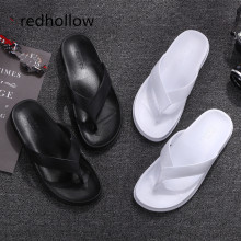 цена на Men Slippers Summer Beach Sandals Flip Flops Slippers Flat Slip On Casual Indoor Outdoor Home Slippers Bathroom Shoes For Men
