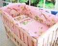 Conjunto berço cama Dos Desenhos Animados fundamento Do Bebê Recém-nascido Kingtoy Sheet100 % algodão Infantil Quarto roupa de cama inclui pillow bumpers mattres