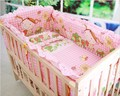Kingtoy Новорожденного набор Детское постельное белье Мультфильм кроватки кровать Sheet100 % хлопок Детская Комната постельное белье включают подушки бамперы mattres