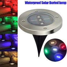 3LEDs Solar Powered Underground Buried Light Outdoor Landscape Garden Stairs Lamp 88 WWO66