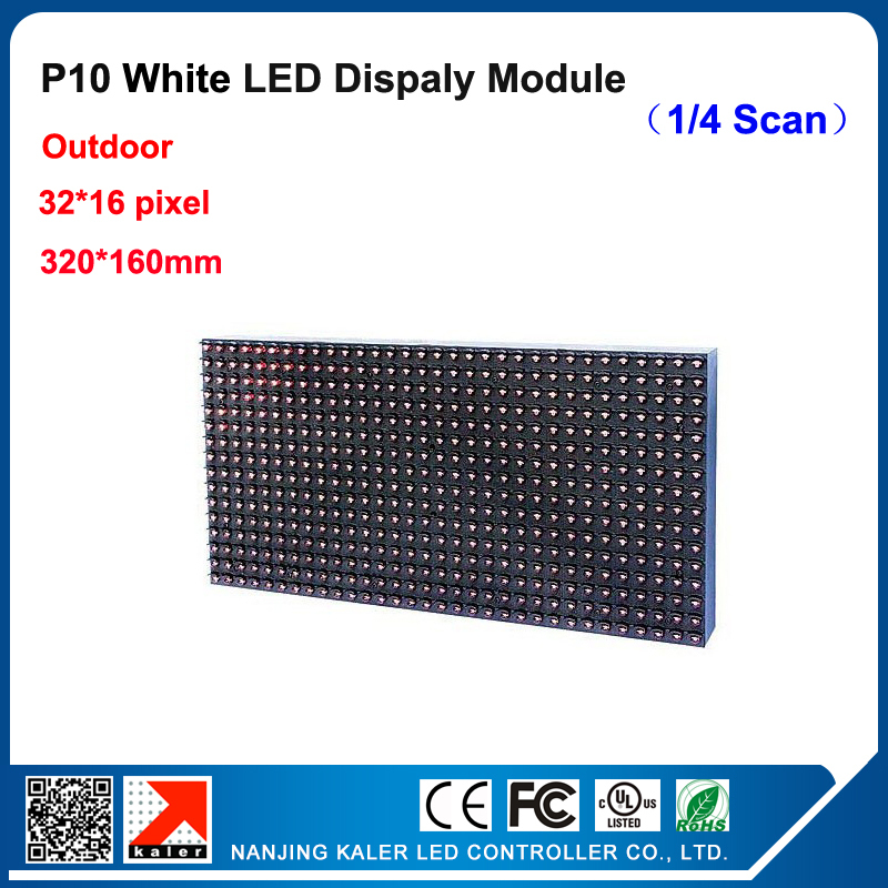 TEEHO Outdoor White P10 Led Display Panel Multi-language 320*160mm Led Message Display Sign Module White P10 Led Module