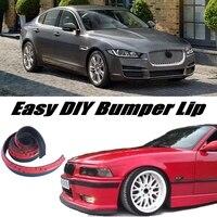 Bumper Lip Deflector Lips For Jaguar XE 2015 Front Spoiler Skirt For Car View Tuning / Body Kit / Strip