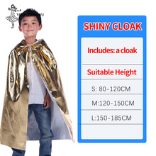 Cosplay Costume Halloween Hooded Capes for Adult Kid Long Cloak Bright Cloth Anime Cape Clothes