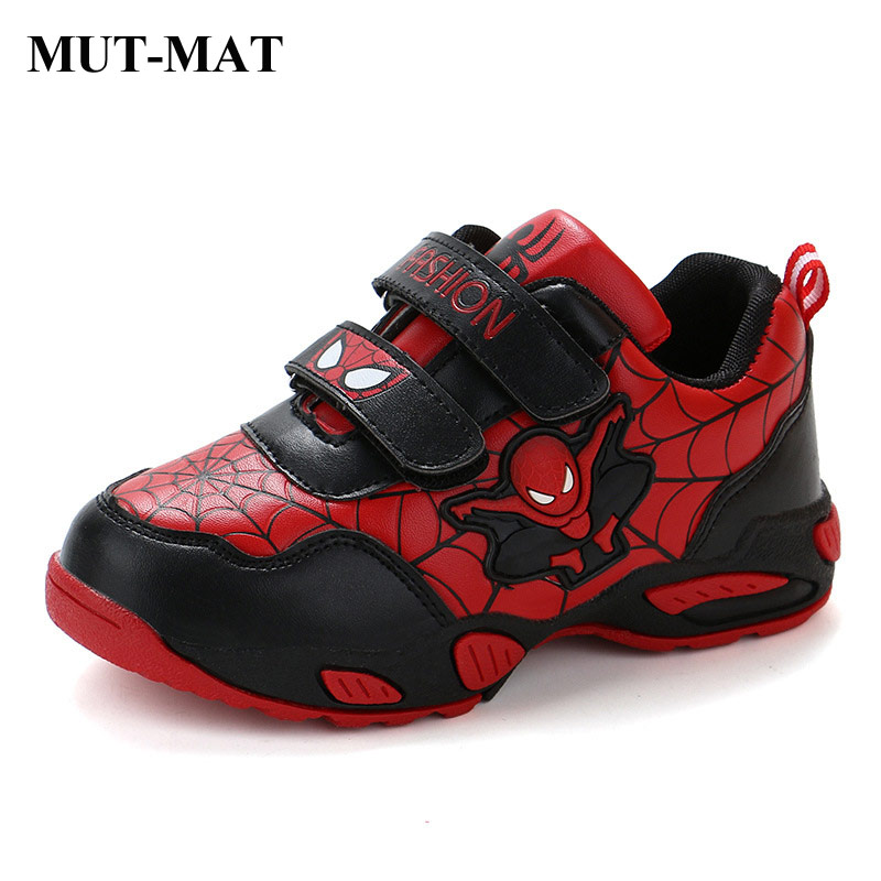 Children's Cartoon Shoes Spider Man Kids Sneakers Autumn Boys Sports Shoes Wearable Non-slip Running Sneaker