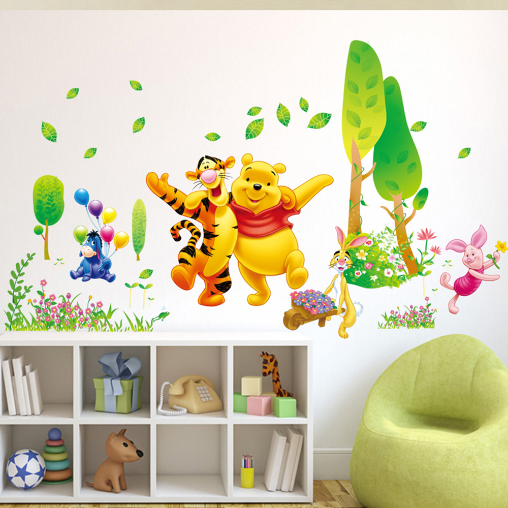 Winnie The Pooh Wall Art decor winnie the pooh wall decals kids bedroom & baby nursery