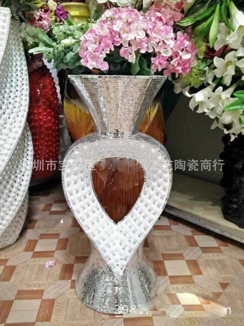 tall floor vases for living room curtains small window 70 cm vase receptacle the hotel s is decorated wedding center tabletop