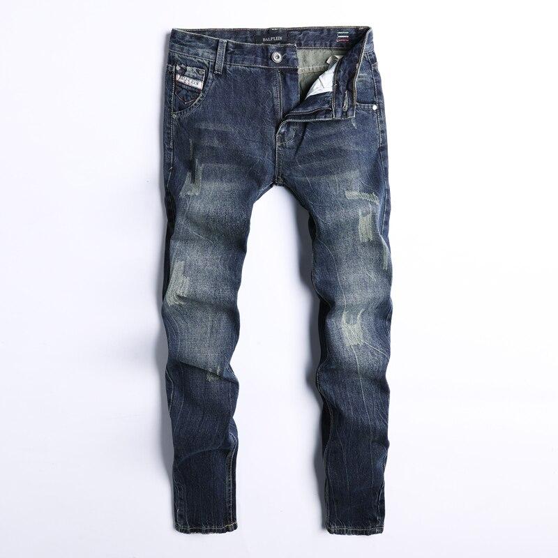 Italian Style Fashion Men   Jeans   Vintage Design Slim Fit Cotton Ripped   Jeans   For Men Denim Pants Brand Classical   Jeans   Size 29-40